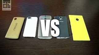 MegaBattle: SGS5 vs HTC One (M8) vs Nexus 5 vs iPhone 5s vs Nokia Lumia 1520