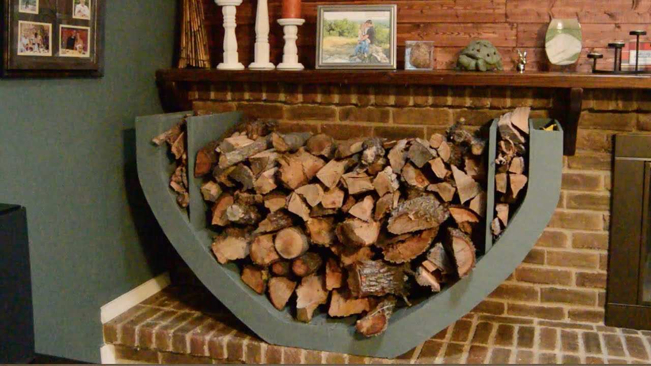 Outdoor Firewood Storage Containers Diy Firewood Holder Youtube