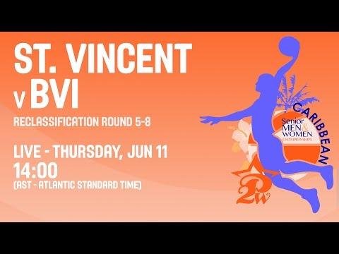 St. Vincent v BVI - Reclassification 5-8 - 2015 CBC Women's Championship