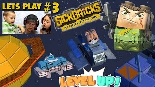 Lets Plays SICK BRICKS Part 3: Exploring Space Hood w/ Berserker Bot & Spaceship (FGTEEV Gameplay)