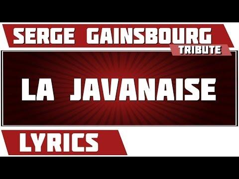 Paroles La Javanaise - Serge Gainsbourg tribute