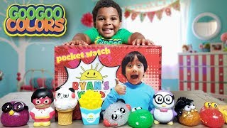 GOO GOO GAGA PLAYS HIDE N SEEK WITH RYAN'S WORLD SQUISHY TOYS