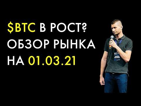 Биткоин прогноз на 1 марта 2021, анализ курса Bitcoin сегодня, BTC обзор и аналитика