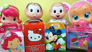 Caixas Surpresa Moranguinho, Hello Kitty, Mickey e Shopkins