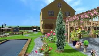Пергола в программе Landscape Architect 3D Pro. Проект сада.
