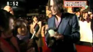 Johnny Depp @ japan premiere for the tourist
