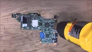 HP dv7 reflow proceedure by BAMJAC Computers   MJ Adelman