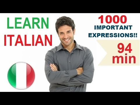 Learn Italian - Common Words & Expressions