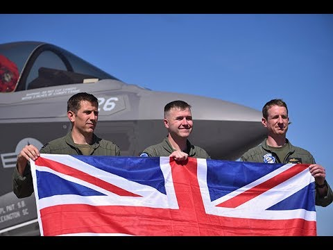 British pilot flying F35B from the deck
