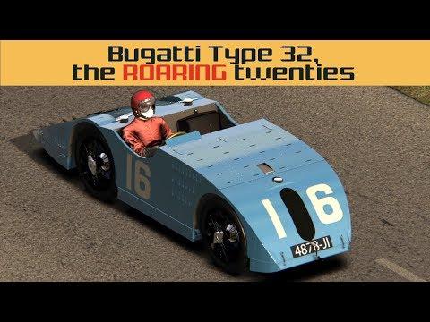 1923 Bugatti Type 32 - a roaring ride! (Assetto Corsa Mod Review and Free Download)