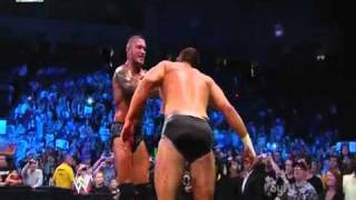 Randy Orton attacks Cody Rhods