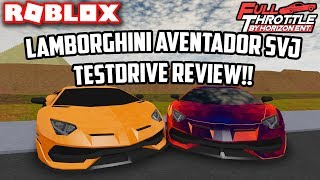 Lamborghini Aventador SVJ TestDrive recensione!! | Full Throttle (ROBLOX)
