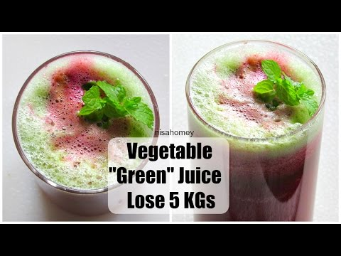 Green Juice For Weight Loss & Detox - Lose 5 Kgs With Vegetable Juice - Morning Routine