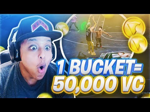 1 BASKET = 50,000 VC FOR THIS 9 YEAR OLD KID! ROOKIE SURPRISES 99 OVERALL ON NBA 2K18!