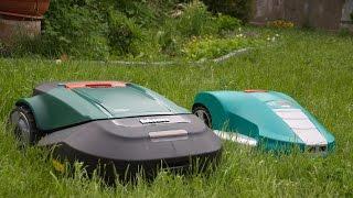 Robot lawn mowers battle Robomow RS612 vs Bosh Indego