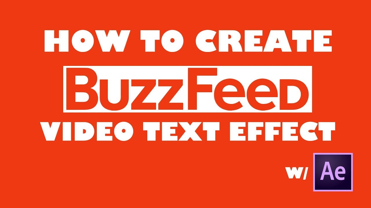 Create Buzzfeed Text Pop Up Effect in After Effects