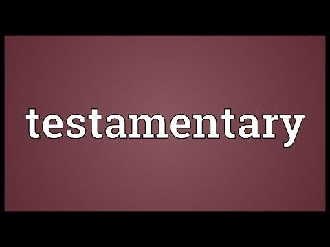 Header of testamentary