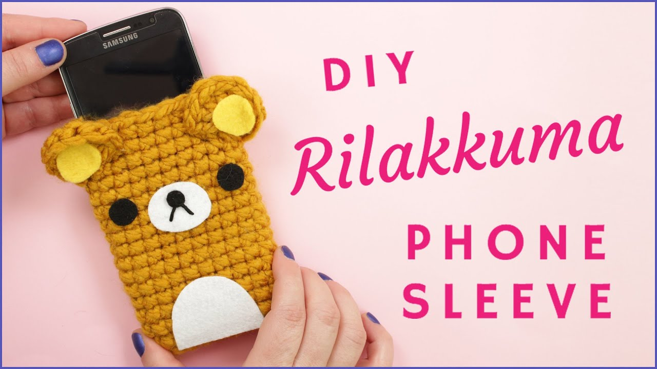 How To Crochet Amigurumi For Beginners : How to Crochet Rilakkuma Phone Sleeve Step by Step ...