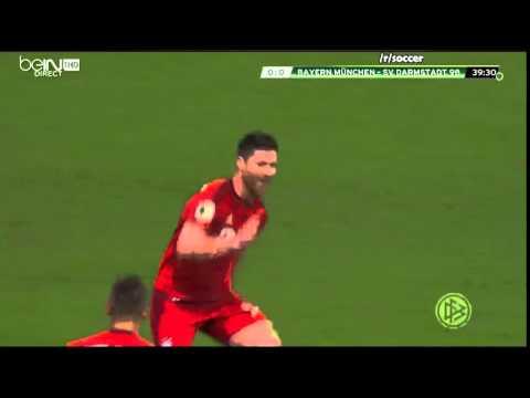 Goal - Xabi Alonso - Bayern Munich 1 - 0 SV Darmstadt 98 - 15/12/15
