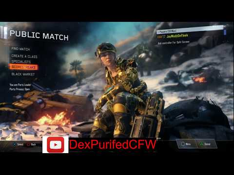 BO3★PS4(1.23) Modded Account✔