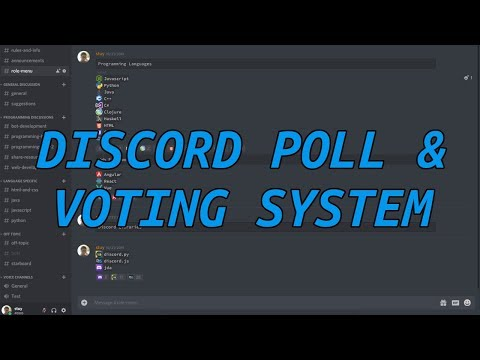Making A Discord Bot Voting/Poll System (MessageCollectors & ReactionCollectors)