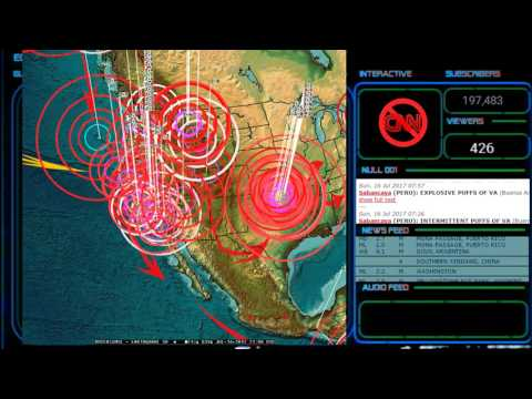 7/16/2017 -- New Yellowstone earthquake swarm as expected -- Seismic unrest + Solar storm