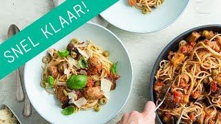 Recept: spaghetti met simpele tomatensaus en worst | Wat Eten We Vandaag?