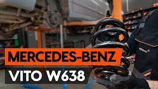 Cómo cambiar los muelles de suspensión traseros en MERCEDES-BENZ VITO 1 (W638)