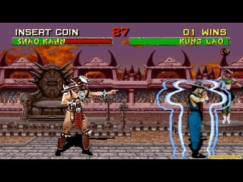 Mortal Kombat 2 arcade Kung Lao Gameplay Playthrough with Smoke and Jade's Clues