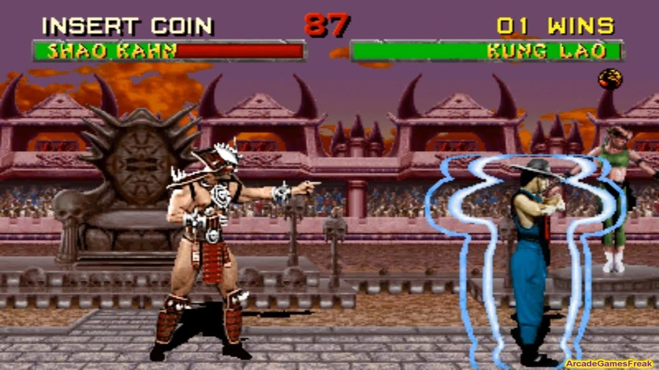 Download Mortal Kombat 2 arcade Kung Lao Gameplay Playthrough with Smoke and Jade's Clues