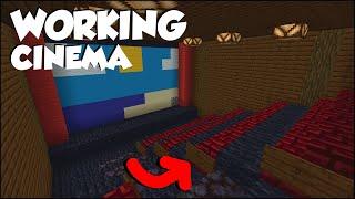 Minecraft: How to mąke a Working Cinema! [easy]