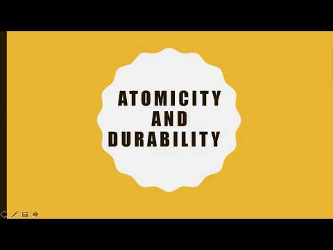 DB1: Atomicity and Durability