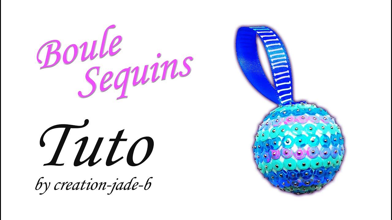 Boule Decoration.Décoration Sequins Boule En Polystyrène