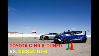 homepage tile video photo for Track Battle - Toyota C-HR R Tuned vs. Nissan GT-R