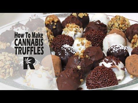 How To Make Cannabis Infused Chocolate Truffles (Marijuana Ganache Balls): Cannabasics #81