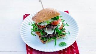 Double Decker Caprese Burger – Savory