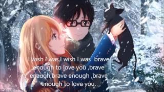 Brave enough-nightcore-lyrics