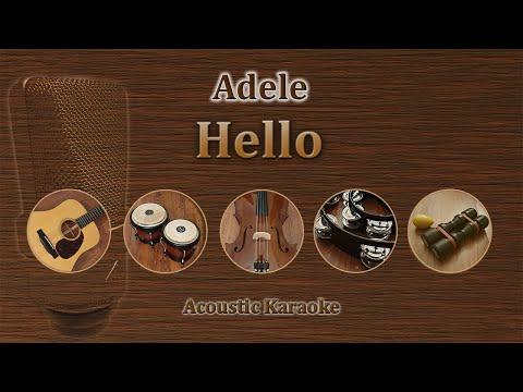 Hello - Adele (Acoustic Karaoke)