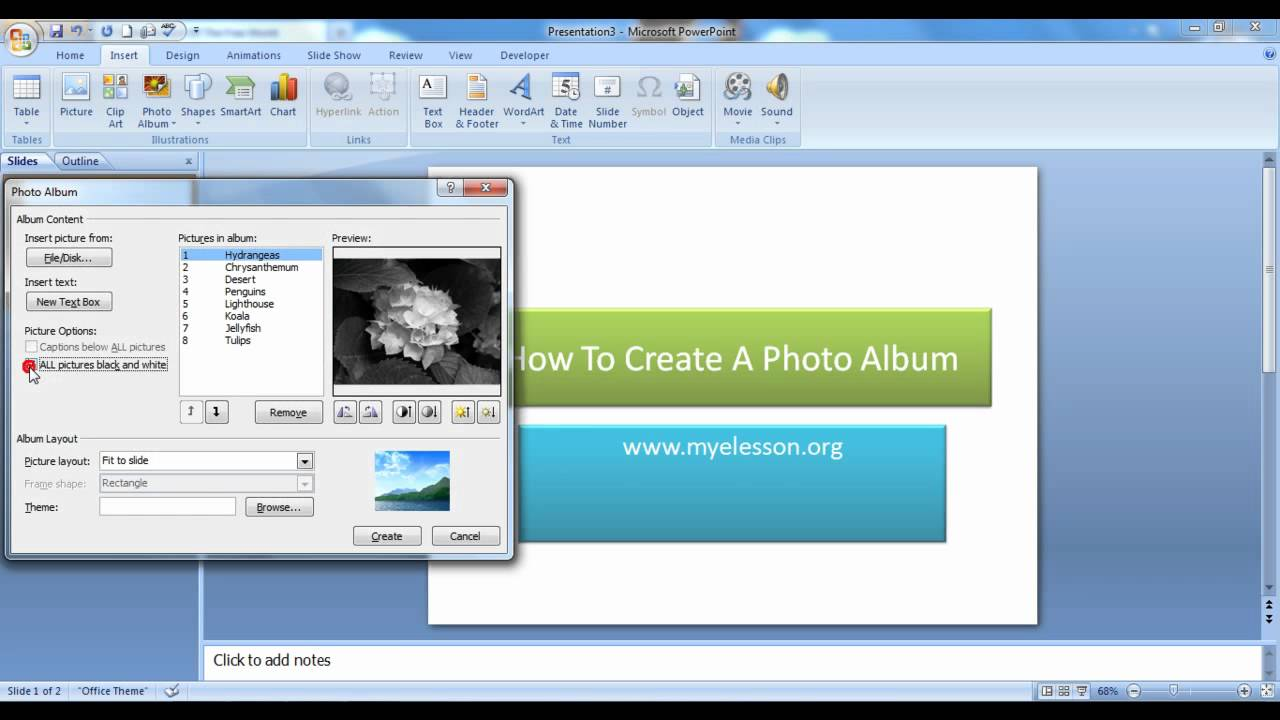 Create a photo album in powerpoint youtube create a photo album in powerpoint toneelgroepblik Images