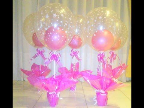 Como hacer centros de mesa con globos youtube - Centros de mesa con globos ...