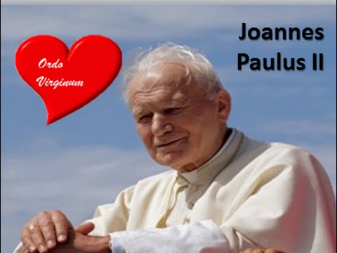 ORDO VIRGINUM PONTÍFICES JUAN PABLO II DISCURSO 1995