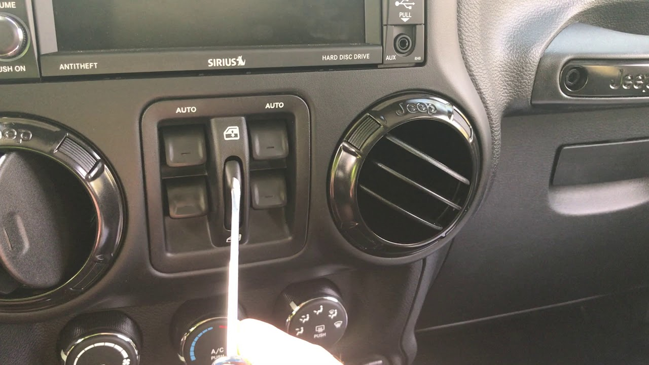 2017 Jeep Wrangler Removing Windows Switches From Dash