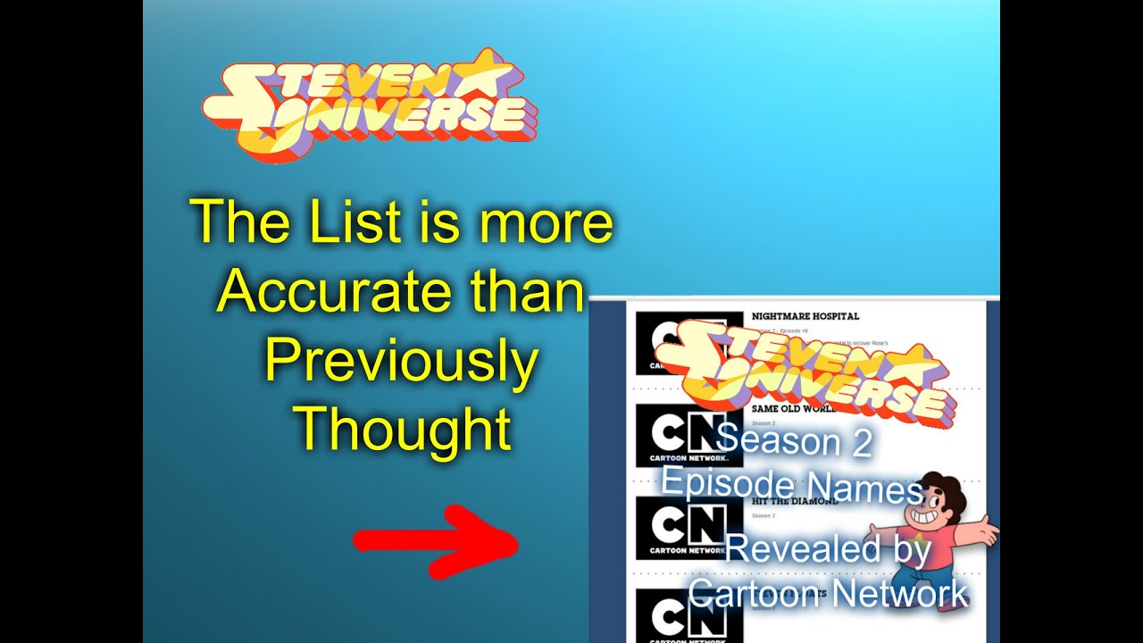 steven universe previously cnn released episode list is coming steven universe previously cnn released episode list is coming true