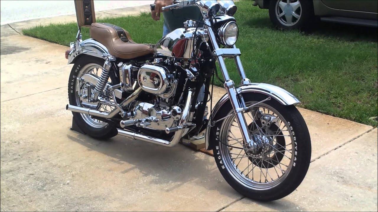 1977 Harley Davidson Sportster All Chrome  YouTube