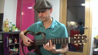 Invention No 2 BWV 773 , J S Bach ,  fingerstyle , free TAB