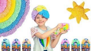 Детский Шариковый ПЛАСТИЛИН и фигурки ЗВЕРЯТ - Даник и папа играют с Play Foam PALS