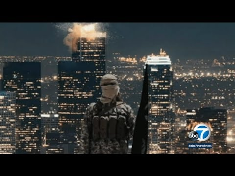 Terrorist Group Releases Burning Picture Of LA A Week After Suspicious Military Drills Downtown LA