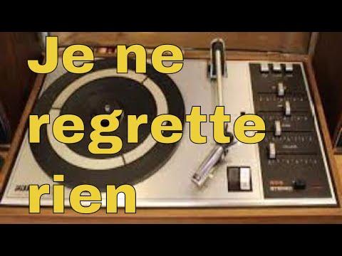 Edith Piaf   Non, Je ne regrette rien Cover with lyrics