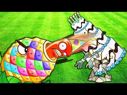 ЭКСПЕРЕМЕНТ в игре ЗОМБИ ПРОТИВ РАСТЕНИЙ 2 мультик игра прикол для детей Plants vs Zombies 2 mod pc