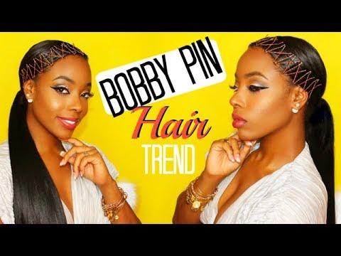 Rihanna Inspired Bobby Pin Hair Trend On Natural Hair Ktura Kay